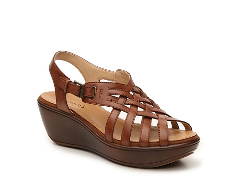 Incaltaminte Femei Bare Traps Dayna Wedge Sandal Brown