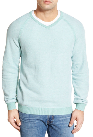 Imbracaminte Barbati Tommy Bahama Make Mine a Double V-Neck Sweater Reversible PALE CAPRI