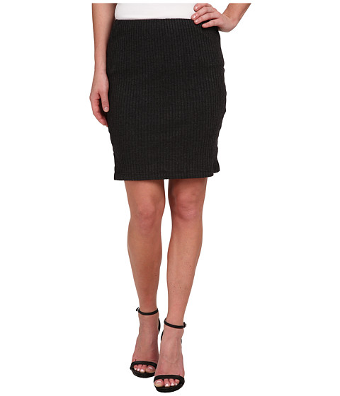 Imbracaminte Femei Three Dots Ribbed Skirt Charcoal