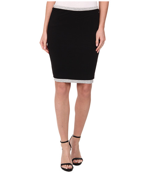 Imbracaminte Femei Three Dots Two Toned Skirt BlackGranite