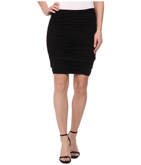 Imbracaminte Femei Three Dots Side Ruched Skirt Black