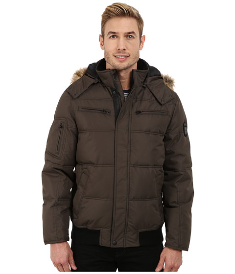 Imbracaminte Barbati Buffalo David Bitton Hooded Jacket w Snap Front Closure Black