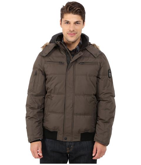 Imbracaminte Barbati Buffalo David Bitton Hooded Jacket w Snap Front Closure Military Gray
