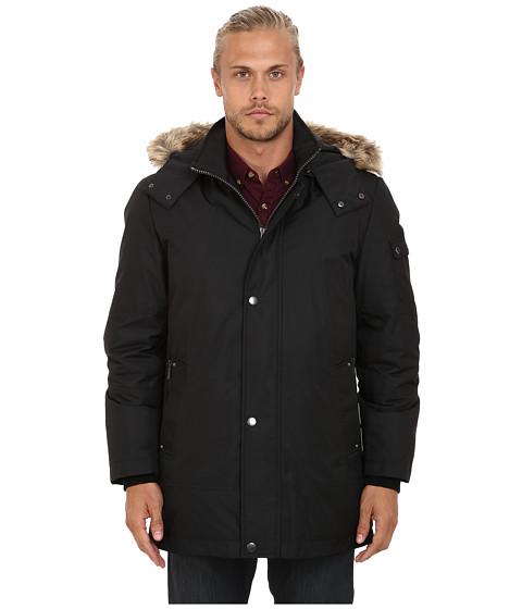 Imbracaminte Barbati Buffalo David Bitton Hooded Snap Front Jacket Black