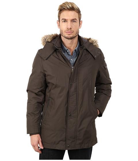 Imbracaminte Barbati Buffalo David Bitton Hooded Snap Front Jacket Military Gray