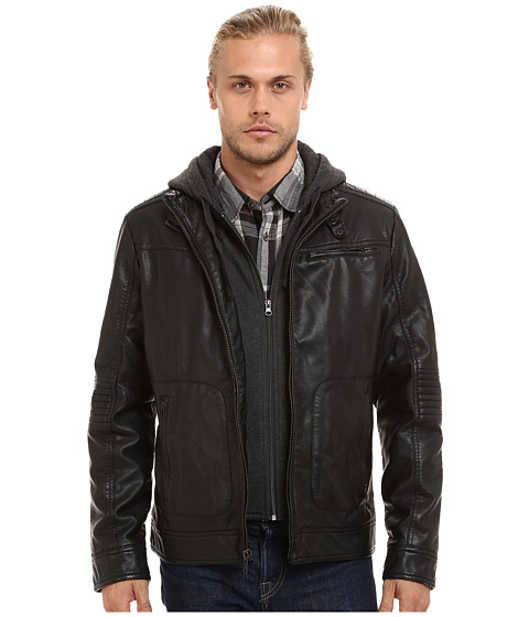 Imbracaminte Barbati Buffalo David Bitton 3-Pocket Jacket w Hood amp Bib Black