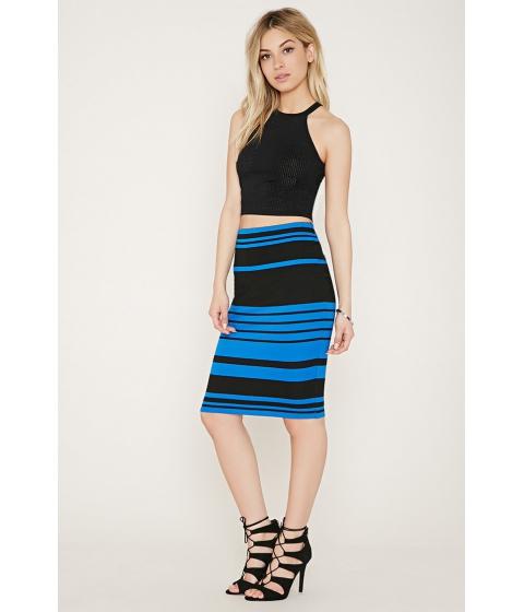 Imbracaminte Femei Forever21 Stripe Bodycon Skirt Blackroyal
