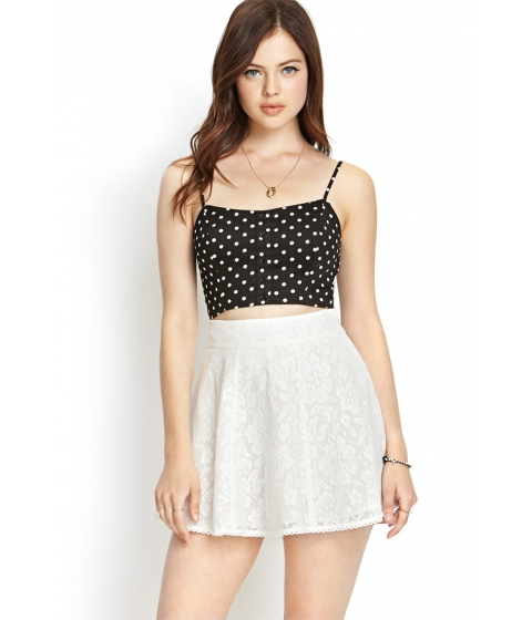Imbracaminte Femei Forever21 Crocheted Lace A-Line Skirt Ivory