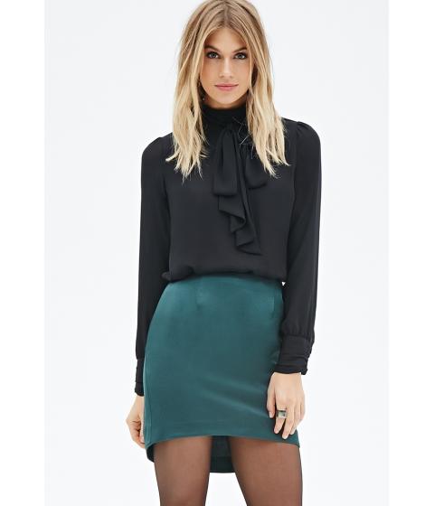 Imbracaminte Femei Forever21 Contemporary Curved Hem Skirt Green