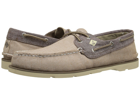Incaltaminte Barbati Sperry Top-Sider Leeward 2-Eye Cross Lace Chambray Khaki
