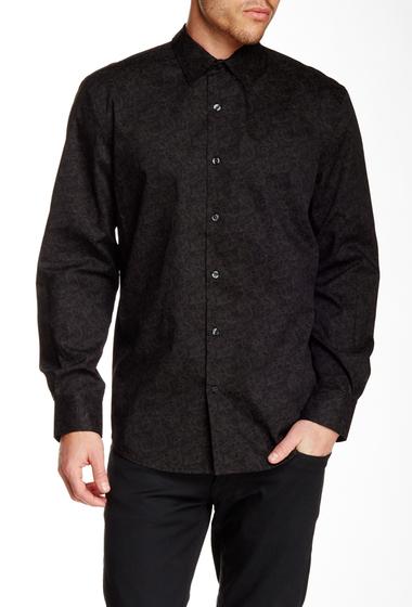 Imbracaminte Barbati Perry Ellis Long Sleeve Paisley Tonal Print Shirt BLACK