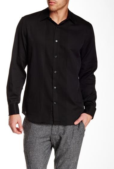 Imbracaminte Barbati Perry Ellis Long Sleeve Solid Cord Shirt BLACK
