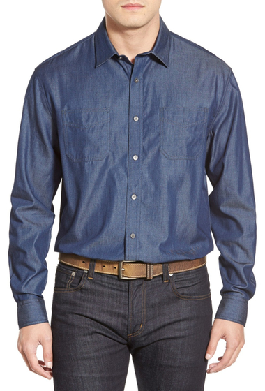 Imbracaminte Barbati James Campbell Collins Regular Fit Sport Shirt INDIGO