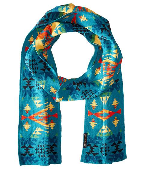 Accesorii Femei Pendleton Knit Muffler Diamond River Turquoise