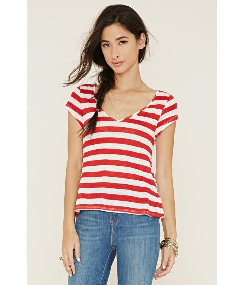 Imbracaminte Femei Forever21 Striped V-Neck Top Redivory