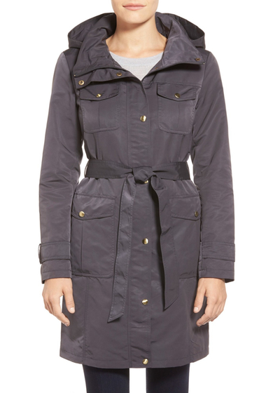 Imbracaminte Femei Ellen Tracy Belted Utility Trench Coat GRAPHITE
