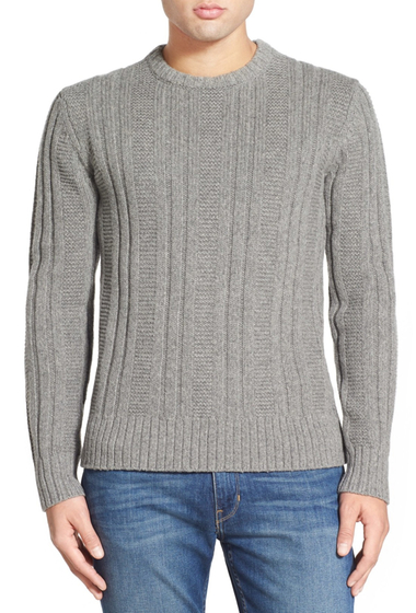 Imbracaminte Barbati Jack Spade Pollock Ribbed Crew Neck Sweater LIGHT GREY