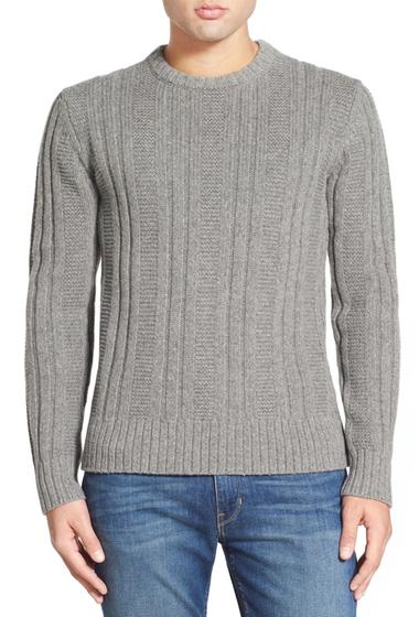 Imbracaminte Barbati Jack Spade Pollock Ribbed Crew Neck Sweater LIGHT GREY