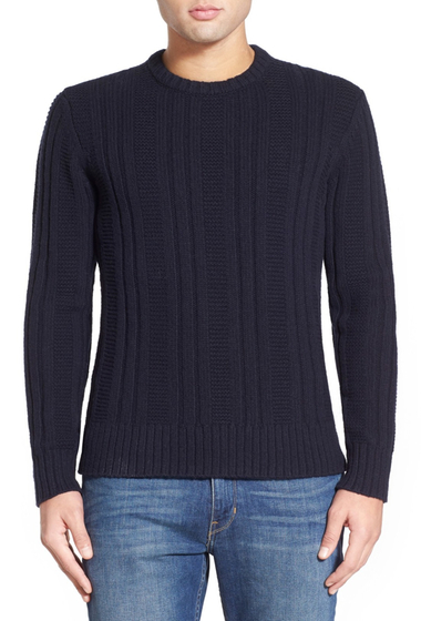 Imbracaminte Barbati Jack Spade Pollock Ribbed Crew Neck Sweater NAVY