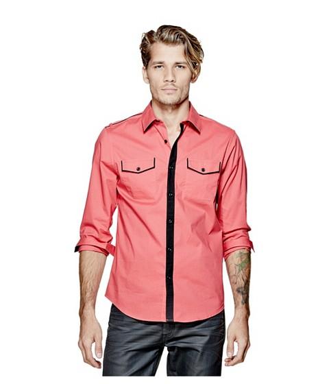 Imbracaminte Barbati GUESS Denfield Polka-Dot Shirt summer love pink