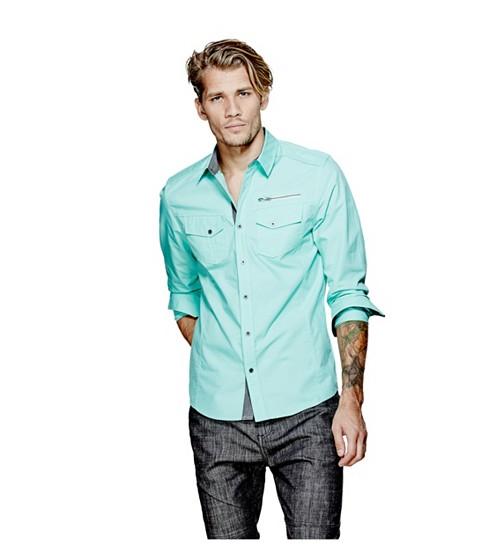 Imbracaminte Barbati GUESS Bason Shirt green pop