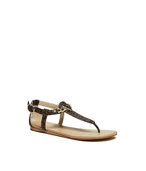 Incaltaminte Femei GUESS Sia T-Strap Sandals brown