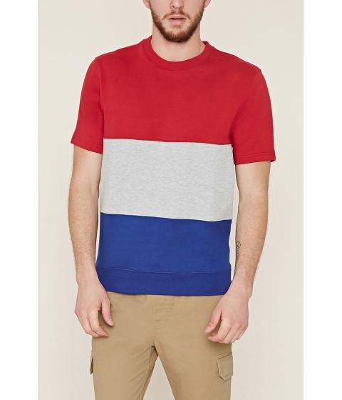 Imbracaminte Barbati Forever21 Colorblocked Sweatshirt Redgrey