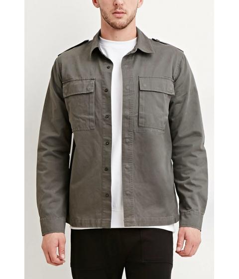 Imbracaminte Barbati Forever21 Cotton Utility Jacket Olive