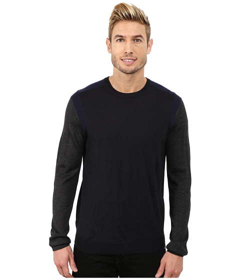 Imbracaminte Barbati Calvin Klein Merino Acrylic Color Block Crew Neck Sweater w Rib Detail Lake Como