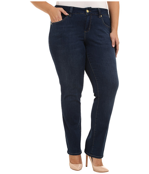 Imbracaminte Femei Jag Jeans Plus Size Patton Mid Rise Straight Jeans in Blue Shadow Blue Shadow