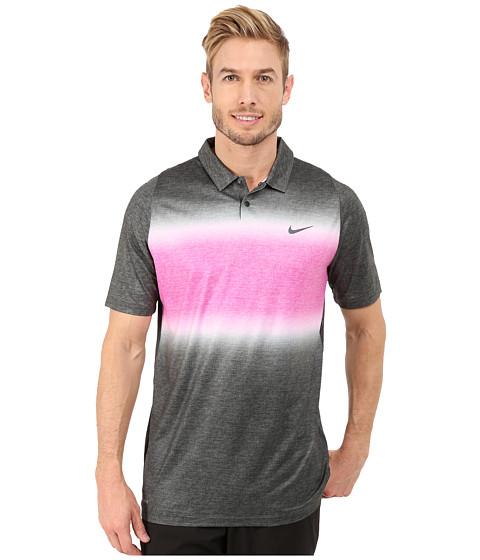 Imbracaminte Barbati Nike Tiger Woods Velocity Glow Stripe Polo Shirt BlackFuchsia FlashAnthraciteReflective Black