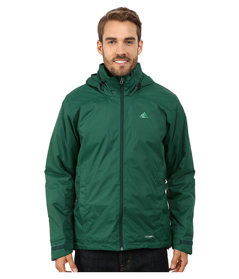 Imbracaminte Barbati adidas Outdoor Hiking Wandertag Insulated Jacket Dark Green