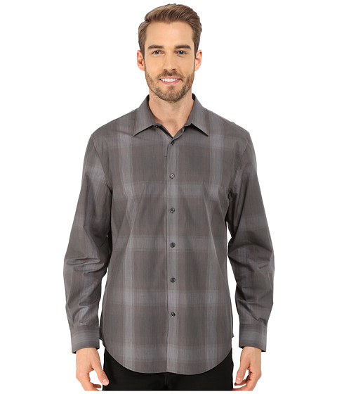 Imbracaminte Barbati Perry Ellis Long Sleeve Ombre Plaid Pattern Shirt Castlerock