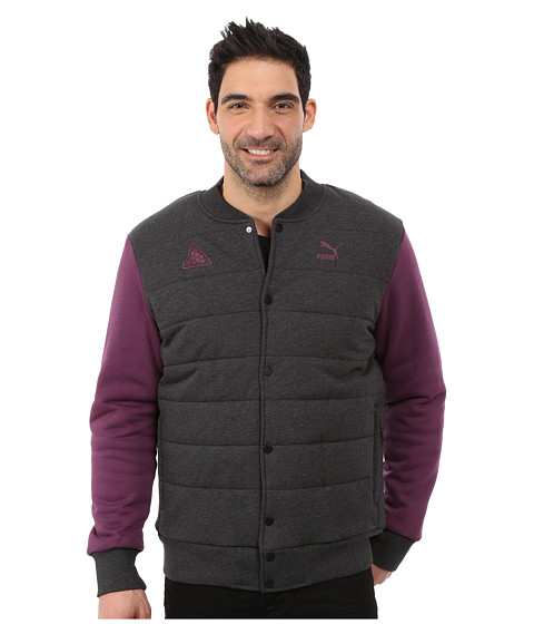 Imbracaminte Barbati PUMA Padded Bomber Jacket Dark Gray Heather