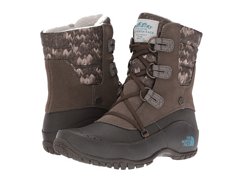 Incaltaminte Femei The North Face Nuptse Purna Shorty Shroom BrownStorm Blue (Prior Season)