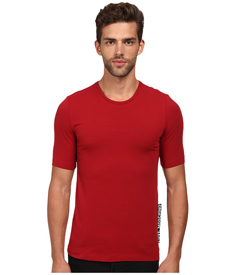 Imbracaminte Barbati LOVE Moschino Slim Fit Tee with Extra Large Logo Tag Red