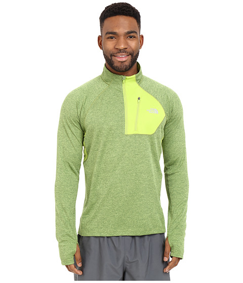 Imbracaminte Barbati The North Face Impulse Active 14 Zip Pullover Macaw Green Heather