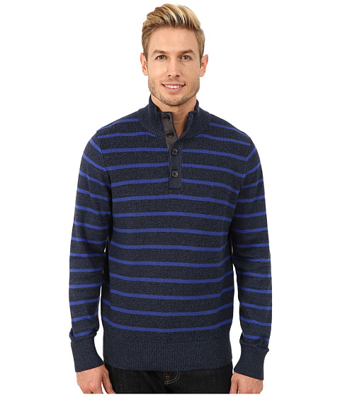 Imbracaminte Barbati Nautica 9 Gauge Shaker Knit Botton Mock Sweater Classic Navy