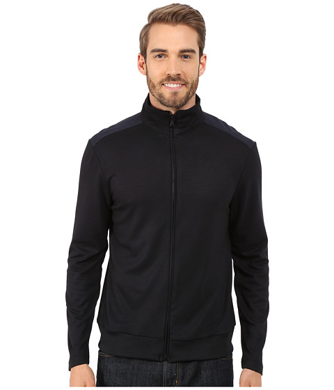 Imbracaminte Barbati Kenneth Cole Long Sleeve Full Zip Mock Dark Ocean