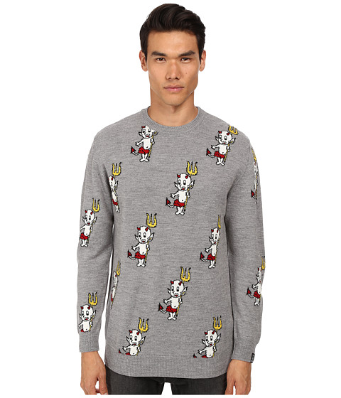 Imbracaminte Barbati LOVE Moschino Little Devil Print Knit Grey