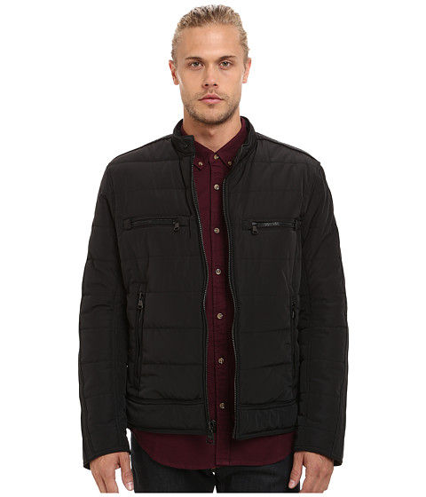 Imbracaminte Barbati Marc New York by Andrew Marc Baxter Polyfill Microsheen Quilted Moto Jacket Black