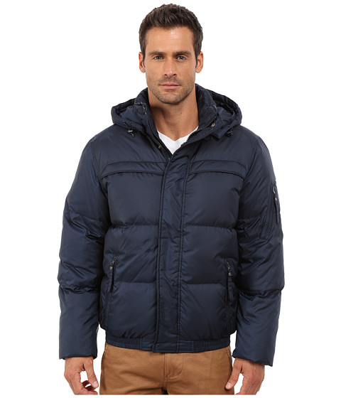 Imbracaminte Barbati Marc New York by Andrew Marc Artica Down Filled Bomber w Removable Hood Ink