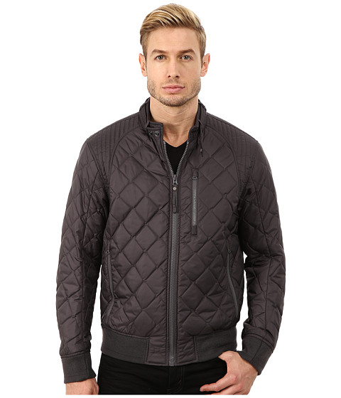 Imbracaminte Barbati Marc New York by Andrew Marc Delancey Poly Fill Quilted Bomber Steel
