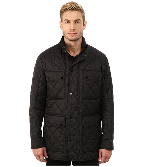 Imbracaminte Barbati Marc New York by Andrew Marc Essex Poly Fill Quilted Four-Pocket Jacket Black