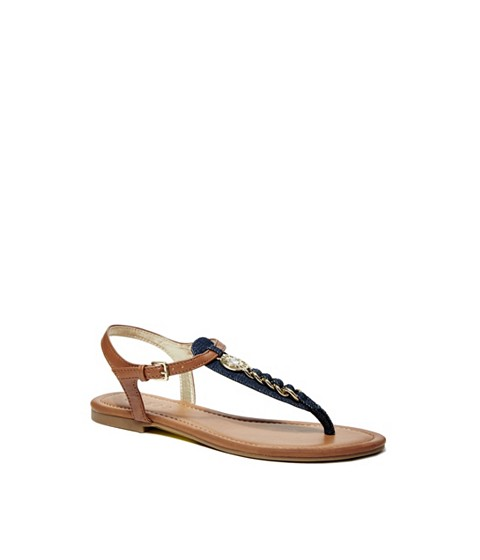 Incaltaminte Femei GUESS Sian Denim T-Strap Sandals brown