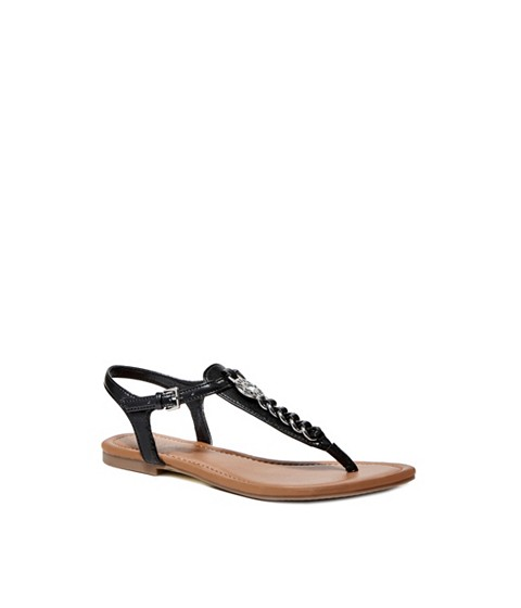 Incaltaminte Femei GUESS Sian T-Strap Sandals black multi