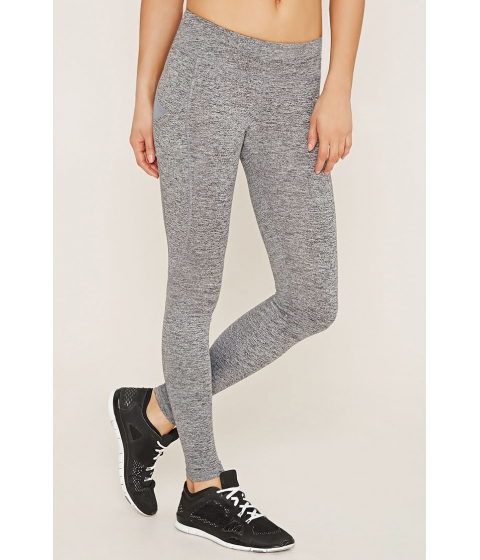 Imbracaminte Femei Forever21 Active Heathered Leggings Charcoal