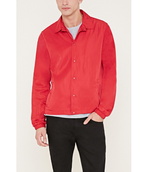 Imbracaminte Barbati Forever21 Sheeny Coach Jacket Red