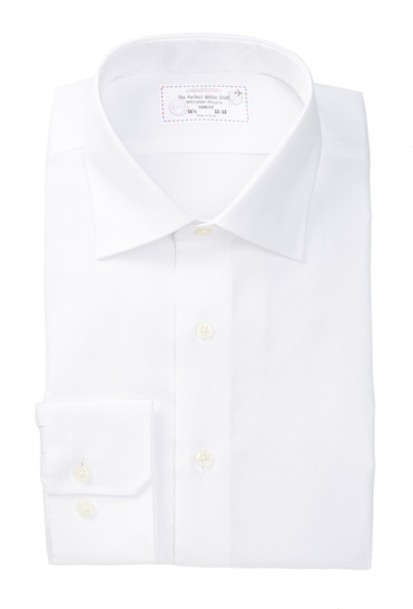 Imbracaminte Barbati Lorenzo Uomo Perfect White Long Sleeve Trim Fit Dress Shirt WHITE