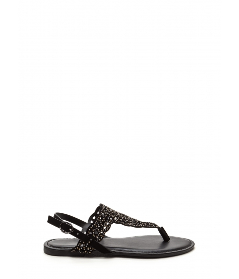 Incaltaminte Femei CheapChic Elegant Flair Faux Nubuck Sandals Black